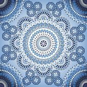 foto of lace-curtain  - Decorative colorful seamless pattern in mosaic ethnic style - JPG