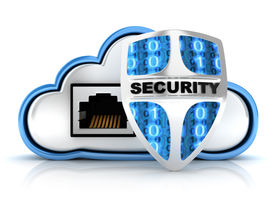 stock photo of intranet  - Blue Cloud security and lan  - JPG