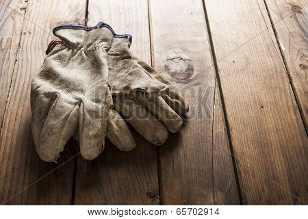 Old working gloves
