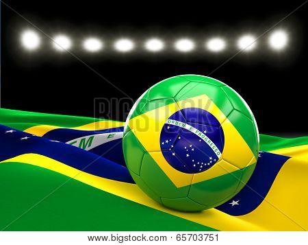 Brazil soccer ball 3d image
