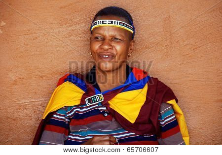 African Ndebele Woman, South Africa.