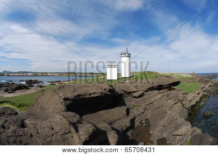 Lighthouse at Elie Coast