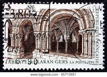 Postage Stamp France 1990 Flaran Abbey, Gers