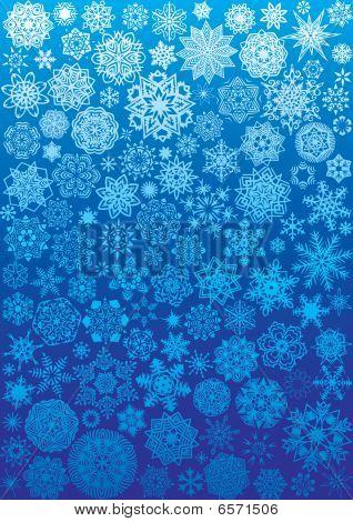 120 snowflakes.