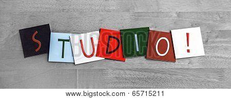 Studio, Sign Series for Music, Art, Dance and Recording Studios.