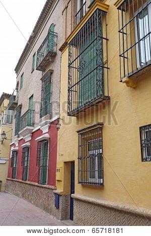 Houses On A Street In Seville, Spain