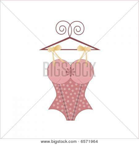 Bodice With Bows And Hanger