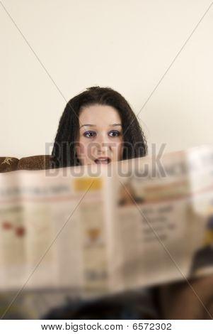 Amazed Female With Bad News