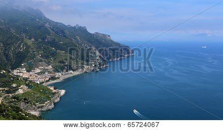 Coastline in Ravello, Amalfi coast, italy