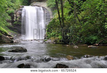Looking Glass Falls waterfall in Western North Carolina