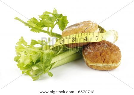 Celery And Jam Doughnut With Tape Measure