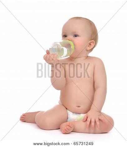 Infant Child Baby Girl Toddler Sitting Happy Holding Breastfeeding