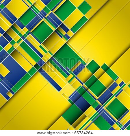 Abstract design background using Brazil flag colours