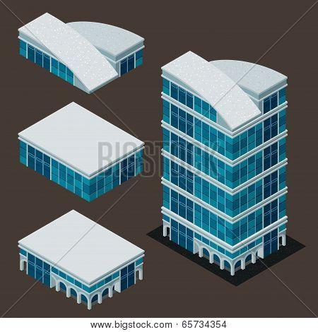 cisometric modern building