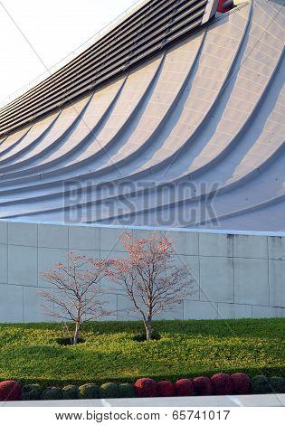 TOKYO, JAPAN - NOVEMBER 20: Free Form Roof Of Yoyogi National Gymnasium, Tokyo, Japan