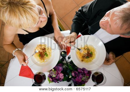 Mature Couple romantic dinner