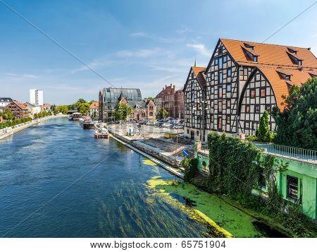 Bydgoszcz Canal in Bydgoszcz, Poland