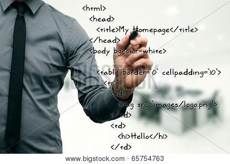 Website Development - Programmer Writing Html Code