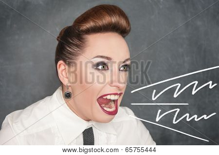 Angry Screaming Woman