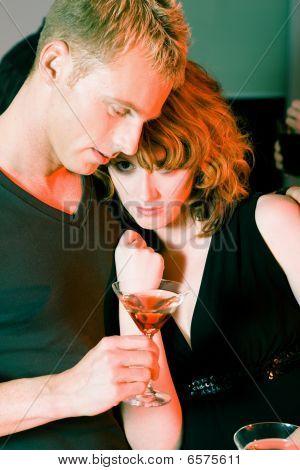 Flirt in a bar