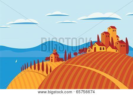 Landscape italy
