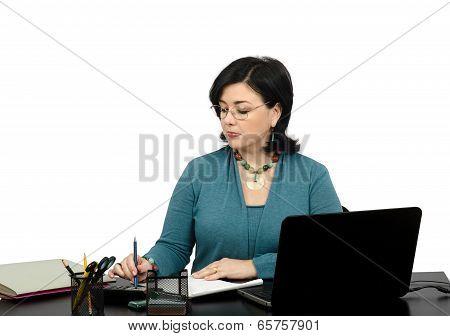 Portrait Of Financial Planner Working Online