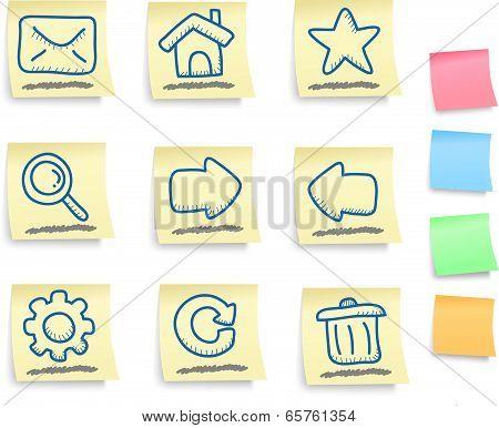 Hand Drawn Internet And Web Icons Set