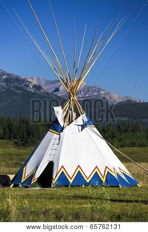 Authentic tepee from Native North Americans