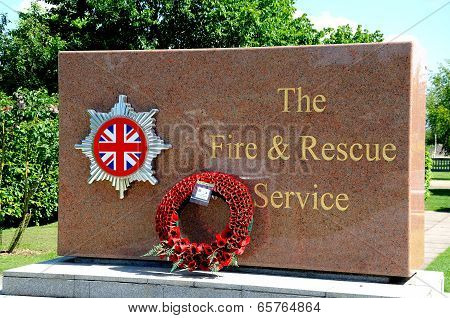 Fire and Rescue Service memorial.