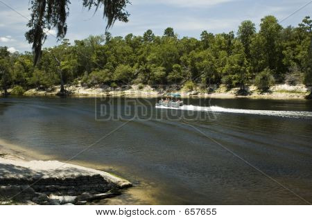 Pontoon On Suwannee River