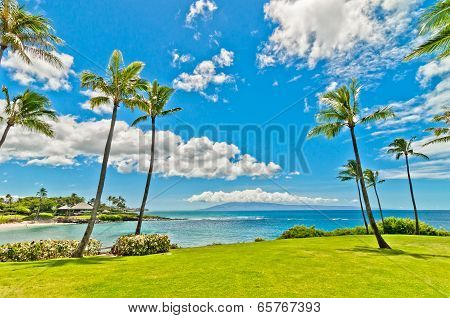 West Maui's famous Kaanapali beach resort area