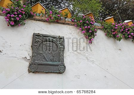Washington Irving Memorial Plaque In Seville, Spain