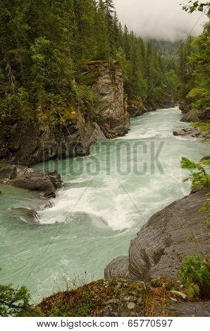 Overlander Falls In Mount Robson Provincial Park