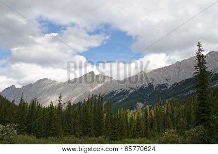 Mountain Range Near Medicine Lake