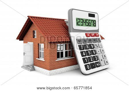 Real Estate Concept. House With Calculator