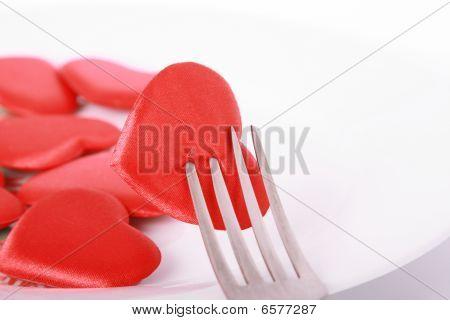 Heart Pierced By Fork
