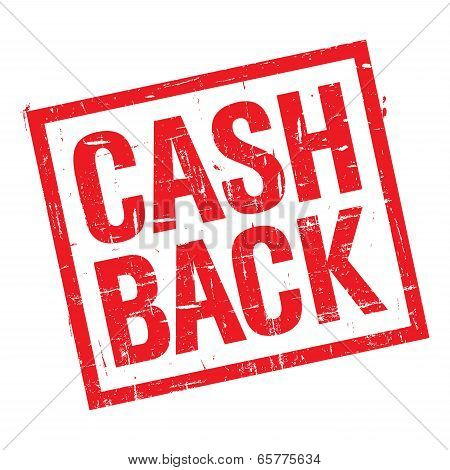 Cash Back Stamp In Red