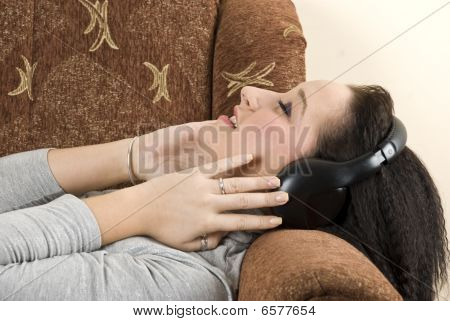 Teen Female Listening Music