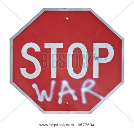 Stop War Traffic Sign