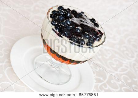 Bilberry Jelly Dessert