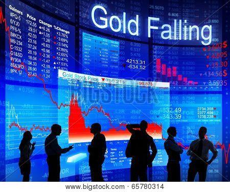 Gold Falling