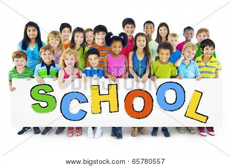 Group of Children with Back to School Concept