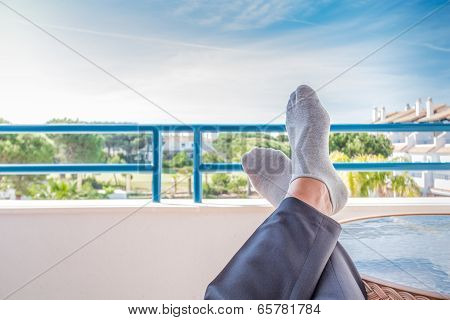 Resting Feet In Spain