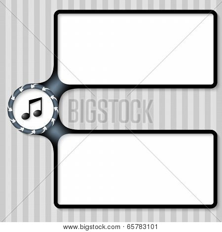 Double Box For Entering Text With Arrows And Music Icon