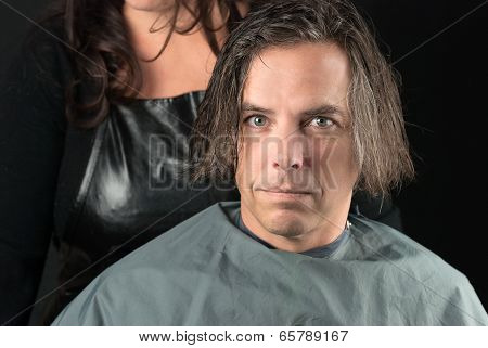 Hair Shampooed Ready For Cut