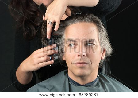 Stylist Cutting Off Length