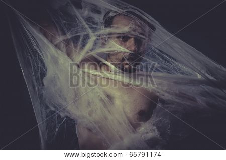 Depression, Man trapped in a spider web