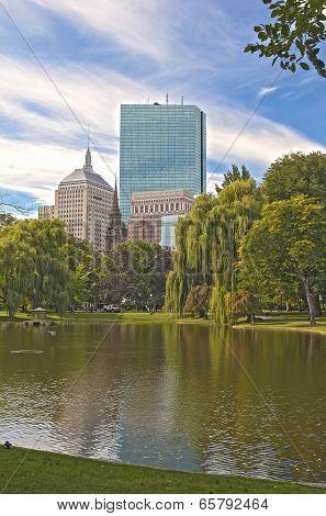 Boston City. Public Garden