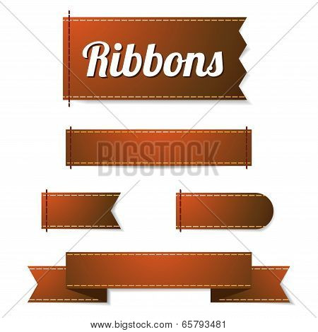 Set Of Ribbon Labels