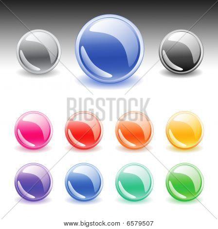 Colorful web buttons set. Vector